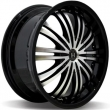 HARP 7,5-18(5-114,3)et40 72,6 Y-01 Glossy Black Machined Face Glossy Black Lip